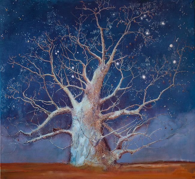 Stardust & Other Dreams Oil on Canvas 112x 112 cm ©Nada Murphy