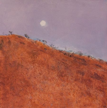 Moon Rising at Warmun Roadhouse Acrylic on Canvas 40x40 cm ©Nada Murphy