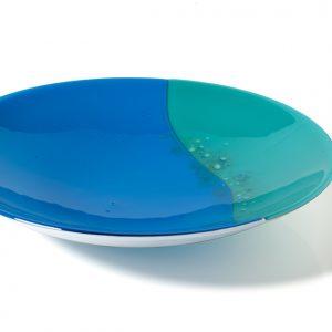 Wave Kiln formed Glass Bowl 3(cm diameter Nada Murphy