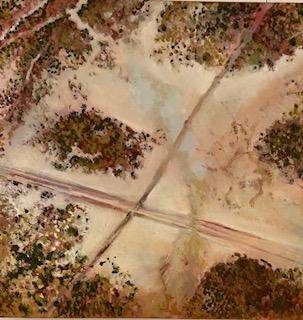 Kimberley Crossroads oil on canvas 44 x 44 cm© Nada Murphy