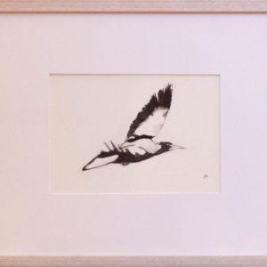 On My Way Ink on paper Framed 32 x 38 cm Nada Murphy © 2018