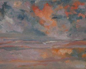 Clouds IV 27 x45 cm