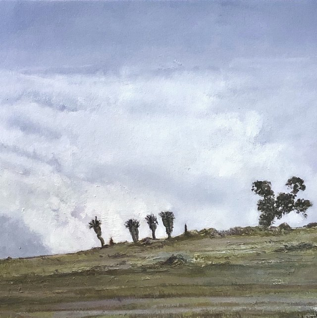 The Sentinels 40 x 40 cm oil on canvas